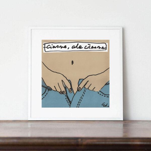 plakat o ulubionych dżinsach