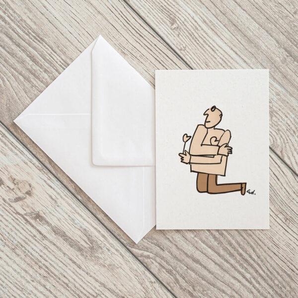 kartka pocztowa wielbiciel