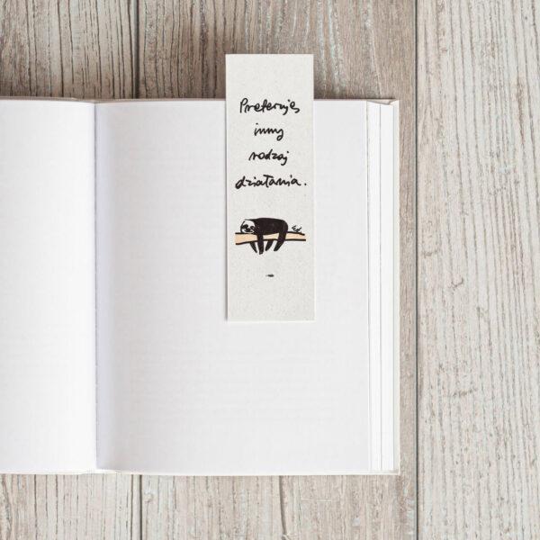 zakładka do książki leniwiec